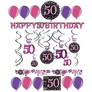 50 Geburtstag Dekoration Pink Heimwerker Markt De