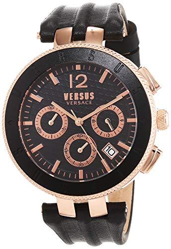 Versus by Versace Homme Analogique Quartz Montre avec Bracelet en Cuir VSP762318
