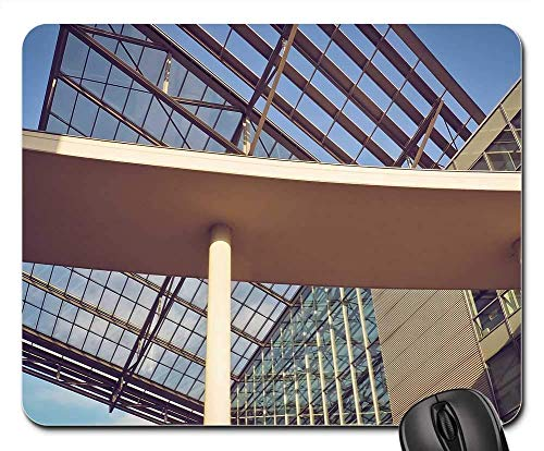 Mausunterlage - Glasarchitektur-moderner Baustahl