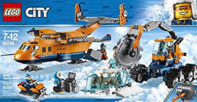 LEGO 60196 City Artic Expedition Toy Airplane, Air Transport Explorer Vehicles, Construction Building Toys for Kids