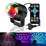 GOSCIEN Mini Disco licht i LED Lichteffekte Party Licht 7 Farbe RGB DJ Licht Diskokugel Lampe für...