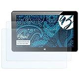 Bruni Schutzfolie für Xoro Pad 10W6 Folie, glasklare Displayschutzfolie (2X)