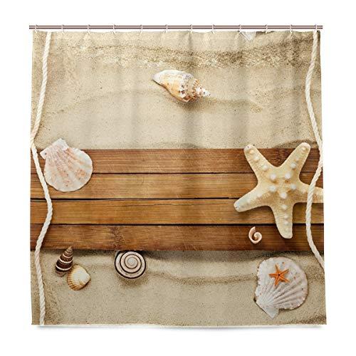 vinlin Beach Seashell Seestern Wasserdicht Badezimmer Zubehör Vorhang für die Dusche Badewanne Vorhang 182,9x 182,9cm