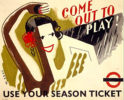 london-underground-come-out-to-play-wonderful-a4-glossy-art-print-taken-from-a-rare-vintage-railway-
