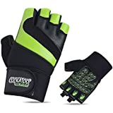 Cockatoo CK113 Professional Gel Performer Gym Gloves With Wrist Support; Weight Lifting Gloves