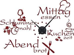 amazon.de: graz design 800396_bk_030 wandtattoo wanduhr mit ... - Wandtattoo Küche Günstig