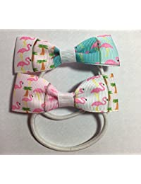 Flamingo Design Hair Bows - Ribbon Girls Fashion Boutique Hair Bows - Hair Accessories Baby Girl Bang on Trend
