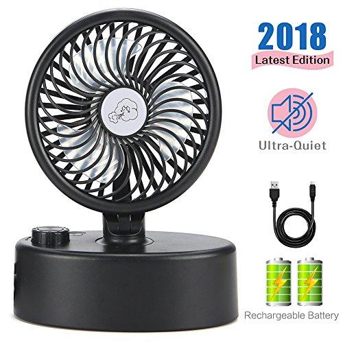 Mini ventilador de escritorio USB Cabezal de sacudida automático Regulador de velocidad...
