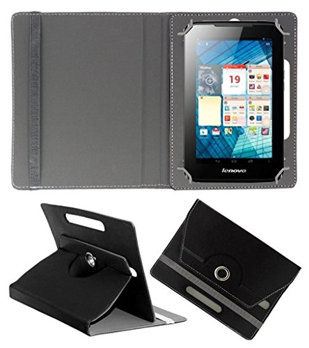 Acm Rotating 360° Leather Flip Case For Lenovo A1000l Tablet Cover Stand Black  available at amazon for Rs.149