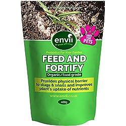 Envii Feed & Fortify - Répulsif anti-limaces organique qui améliore aussi la croissance des plantes, sans danger pour les animaux (400g)