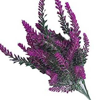 Floridivy 1 Rama de Flor de la Lavanda de la Boda Flores de la simulación de la falsificación de Tela de Flores Artificiales del hogar Decoraciones