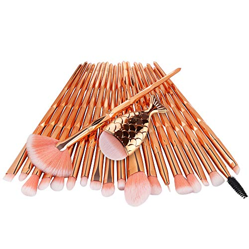 pitashe Nylonhaar Make up Pinsel Set 21pcs Professionelle Makeup Pinsel Set Schminkpinsel Make up...