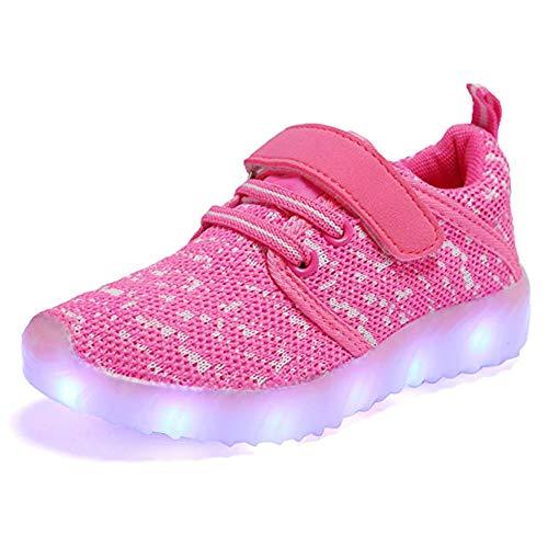 ByBetty Unisex Ni?os Zapatillas LED USB Carga para los Ni?os y los Adolescentes 5 Colores