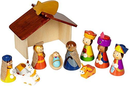 Haba Weihnachtskrippe.Weihnachtskrippe Für Kinder Aus Holz