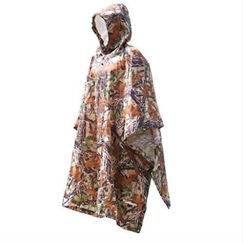 OLDJTK Regenmantel Outdoor-Reisen DREI-in-einem-Regenmantel Poncho Rucksack Regenhülle wasserdicht Zelt Markise Wandern Camping Wandern