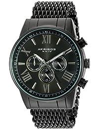Akribos XXIV Reloj con movimiento cuarzo suizo Man AK919BK 45 mm