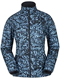 Mountain Warehouse Spring Time Ultra Light Womens Jacket - Lightweight Summer Coat, Water Resistant Raincoat, Fleece Lining -for Travelling, Festivals, Camping, Walking