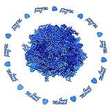 Yimosecoxiang New Romantic Just Married Love Heart Sparkle coriandoli da tavolo festa di nozze Scatter–blu Blue