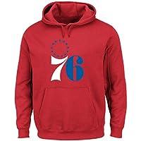 Philadelphia 76ers Majestic NBA Felt Tek Patch Men's Hooded Pullover SweatShirt Camicia