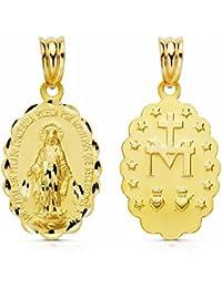 Medalla oro 9k Virgen Milagrosa 24mm. [AB0807]