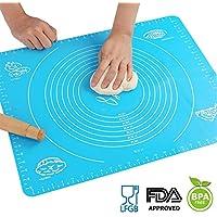 Tapis de cuisson en silicone pour rouleau à pâtisserie Pâte avec mesures, Liner Set de table Table de résistance à la chaleur Pad Planche à pâtisserie, réutilisable anti-adhésif  non toxique et Approuvé par la FDA