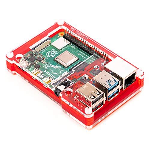 Pibow Coupé 4 (nur für Raspberry Pi 4) - Red (Raspberry Pibow)