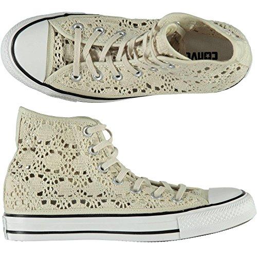 CONVERSE Scarpe Converse All Star Hi Crochet alte beige