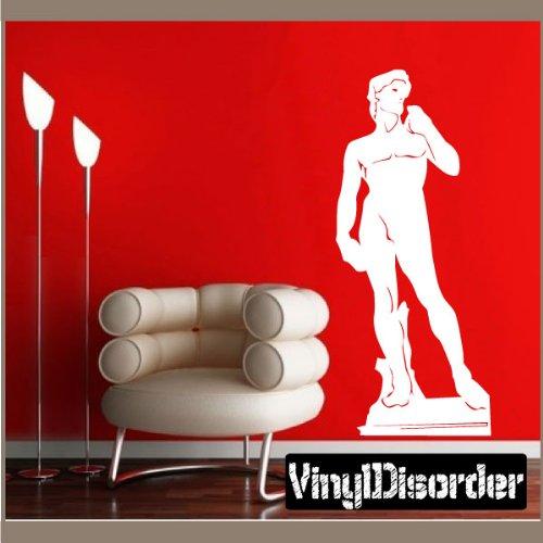 Vinyl Disorder landmarksmc030Statue von David Michelangelo Vinyl Julius Caesar Auto Wand Aufkleber, 91,4cm schwarz (Caesar Julius Statue Von)