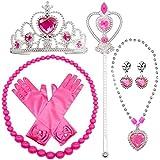 SPECOOL Gilrs Princess Dress up Accessories 6 Pezzi Set Regalo Guanti Principessa, Corona e Bacchetta Tiara, collane per Bamb