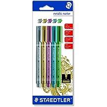 Staedtler 8323-S BK5 - Blíster con 5 marcadores metálicos