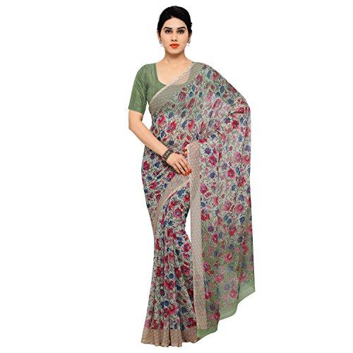 Vaamsi Chiffon Saree with Blouse Piece (Empress1054_Multi_One Size)