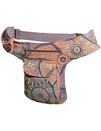Goa - Bolso bandolera / riñonera / bolso para cinturón, estilo hippie