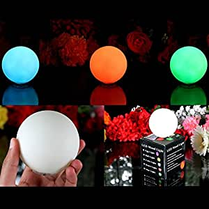 PK Green Mood Lamps Ball Sensory LED Lights - Mini Sphere Orb Colour Changing Mood Lighting for Party, Wedding | Set of 3