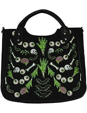 Banned Damen Handtasche Midnight Hour schwarz 34x31x13 cm