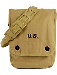 WW2 mapa caso segunda guerra mundial hombro bolsa con bolsa interior lienzo Caqui