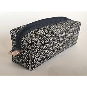 """Federmäppchen Federtasche"""" Asanoha"""" Stiftetasche aus Designerstoff mit traditionellen, japanischen Sternenmuster. Schlamper Mäppchen Japan Sterne 100% Handmade"""