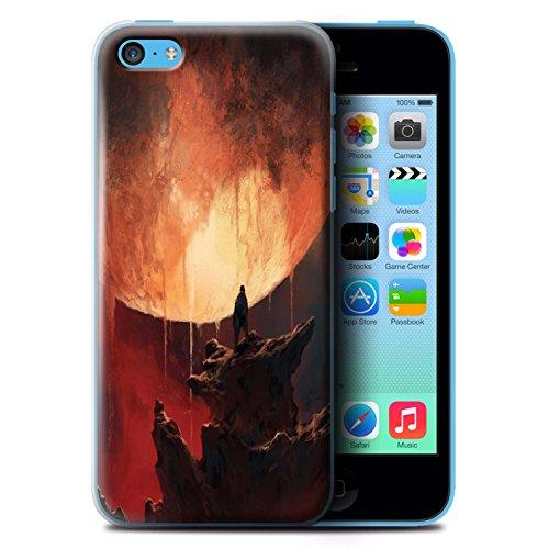 Offiziell Chris Cold Hülle / Case für Apple iPhone 5C / Pack 12pcs Muster / Fremden Welt Kosmos Kollektion Schmelzen Sonne