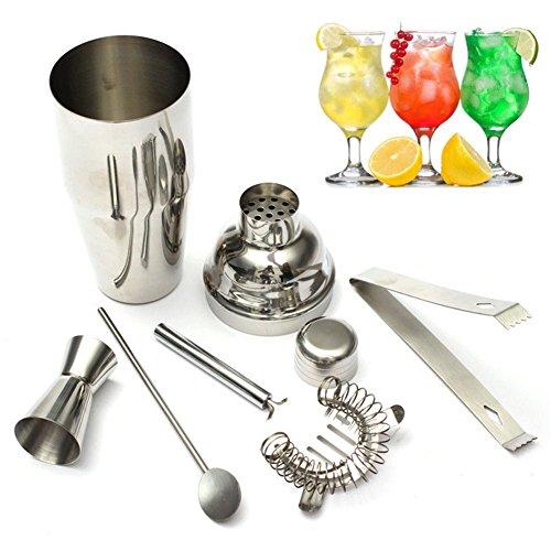 Cocktail maker set, 5x/Set Profi Cocktail-Cocktail Shaker Bar Set mit Cocktail-Shaker Bar, HAWTHORN Sieb, Rührlöffel, Messen Cup & Eiszange Barkeeper Werkzeug Zubehör