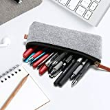 Outgeek 2PCS Pencil Case Multipurpose Student Pen Holder Pouch Office Pencil Bag