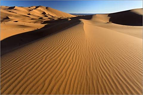 Canvas print 90 x 60 cm: Orange sand dunes and