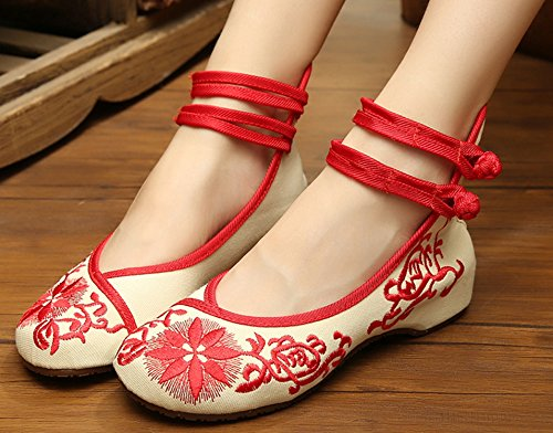 ICEGREY ladies Blossom Embroidered Mary Janes