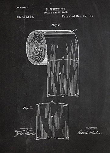 """JUNIQE® Leinwandbild 30x45cm Schwarz & Weiß Retro - Design """"Toilet Paper"""" (Format: Hoch) -..."""