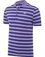 Adidas Golf 2015 Mens Climacool Sport Classic Stripe Golf Polo Shirt - LC Logo
