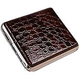 علبة لحفظ السجائر من المعدن الصلب مغطاه بجلد رقم الصنف 683 - 1