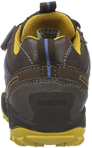 Geox Jungen J New Savage Boy B Abx D Sneakers Braun (Brown/Dk YELLOWC6F2G)