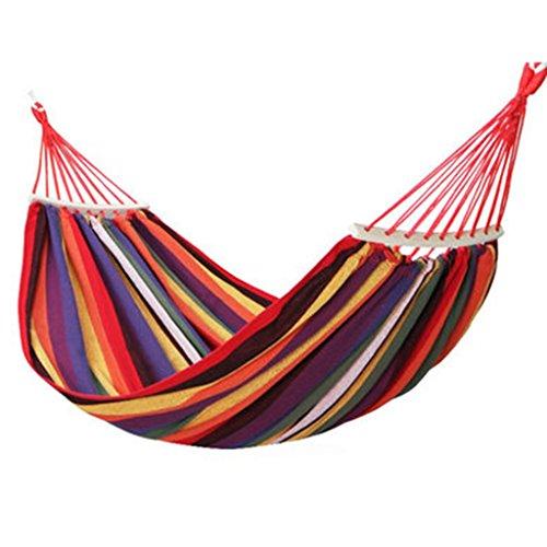 Toile extérieure hamac camping préventif roll-over chaise en bois balançoire double 200 * 150 cm (Color : Purple)