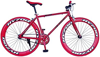 Wizard Industry Helliot Soho 5302 - Bicicleta fixie, cuadro de acero, frenos V-Brake, horquilla acero y ruedas de 26