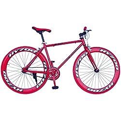 Helliot Bikes Fixie Brooklyn H31 Bicicleta Urbana, Unisex adulto, Rojo, Única