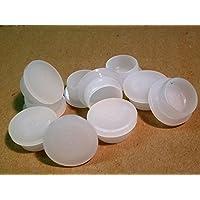 22,4mm LDPE tapas, plástico, tapas, tapón ciego, color blanco, Cubierta Tapón (rohrstopfen), diferentes cantidades disponibles