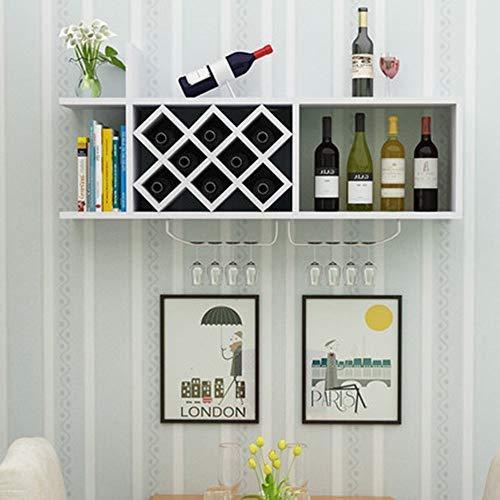 AG Wohnzimmer Weinregal, Restaurant Weinregal, dekoratives Weinregal, Weinregale aus massivem Holz Wand Wein Kabinett Dekoration Wohnzimmer Regal jeden Raum zu erfüllen,B -